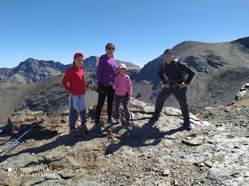 Familia Villar: María, Daniel, Noemí y Sergio Villar